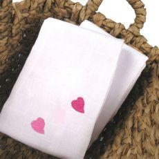 Lange en tissu Petits Coeurs