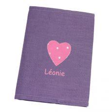 Protège carnet de santé personnalisé Prune Lola
