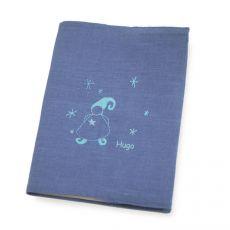 Protège carnet de santé bébé personnalisé Bleu Magicien
