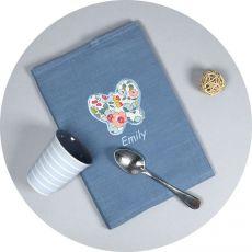 Protège carnet de santé original Bleu Gris Butterfly