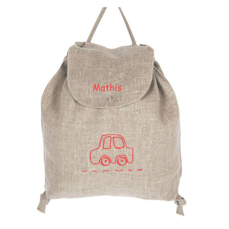 sac cole maternelle lin en voiture parfait pour partir en balade. Black Bedroom Furniture Sets. Home Design Ideas