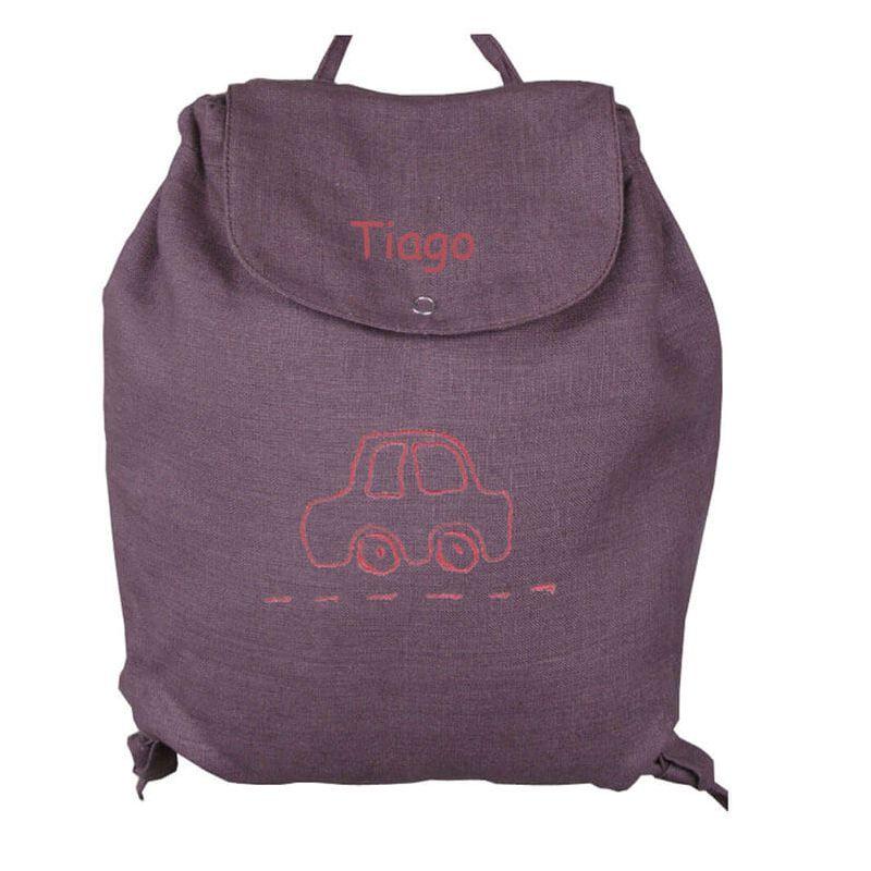 sac dos gar on chocolat en voiture parfait pour les voyages. Black Bedroom Furniture Sets. Home Design Ideas