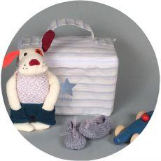 Trousse de toilette bébé brodée Séraphin Etoile