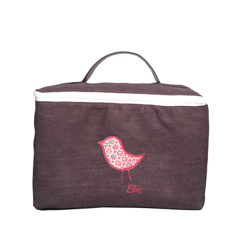 trousse de toilette enfant chocolat avec son oiseau corail curiosity. Black Bedroom Furniture Sets. Home Design Ideas