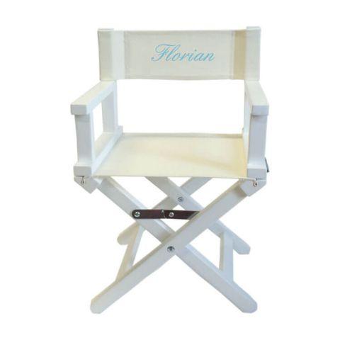 Chaise cinéma Prénom beige blanc