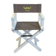 Chaise cinéma taupe Moustache blanc