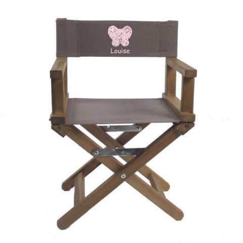 Chaise de réalisateur Taupe Confidence teck