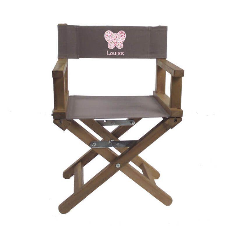 un fauteuil metteur en sc ne taupe brod d 39 un d licat papillon. Black Bedroom Furniture Sets. Home Design Ideas