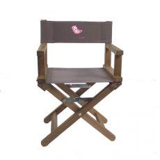 Chaise de cinéma taupe Saperlipopette teck