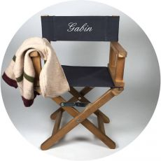 Chaise metteur en scène personnalisé Bleu Nuit