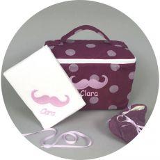 Coffret cadeau naissance fille Betty Moustache