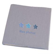 Album photo bébé gris Etoiles Bleues