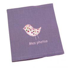Album photo bébé fille prune Saperlipopette