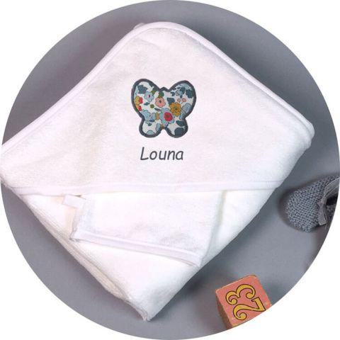 Sortie de bain bébé fille Butterfly