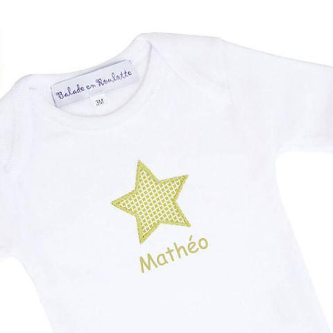 Body bébé personnalisé Petit Matin