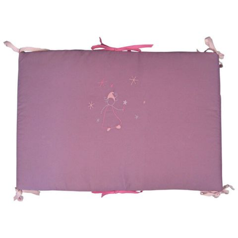Tour de lit fille Fée prune