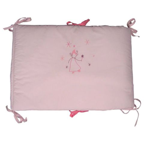 Tour de lit bébé fille Fée rose
