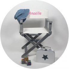 Chaise metteur en scène Beige