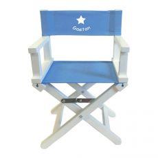 Chaise metteur en scène bébé Bleu Ciel Etoile