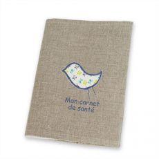 protege-carnet-de-sante-personnalise-lin-oiseau