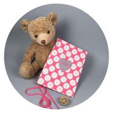 Protège carnet de santé fille rose Angélique