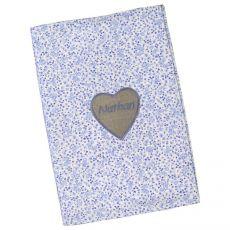 Protège carnet de santé original bleu Pimprenelle