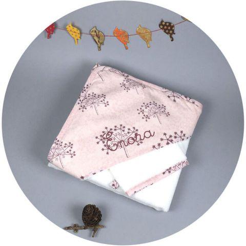 serviette-bebe-rose-prune
