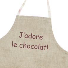"""Tablier de cuisine enfant """"J'adore le chocolat!"""""""