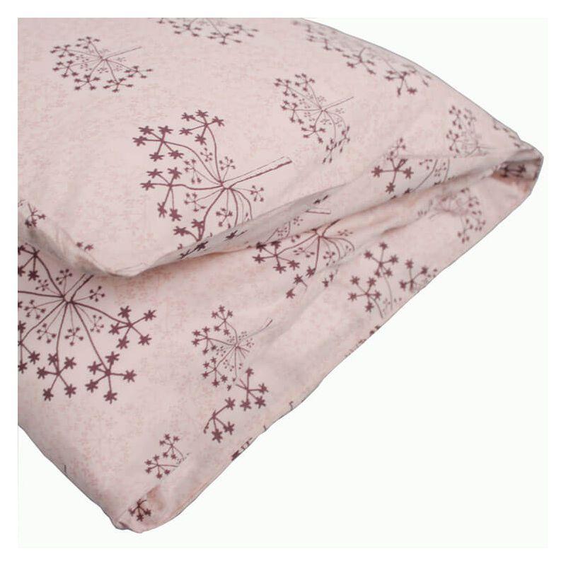Une housse de couette lit bébé rose à l\'esprit zen attitude