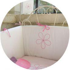 Tour de lit blanc Fleur