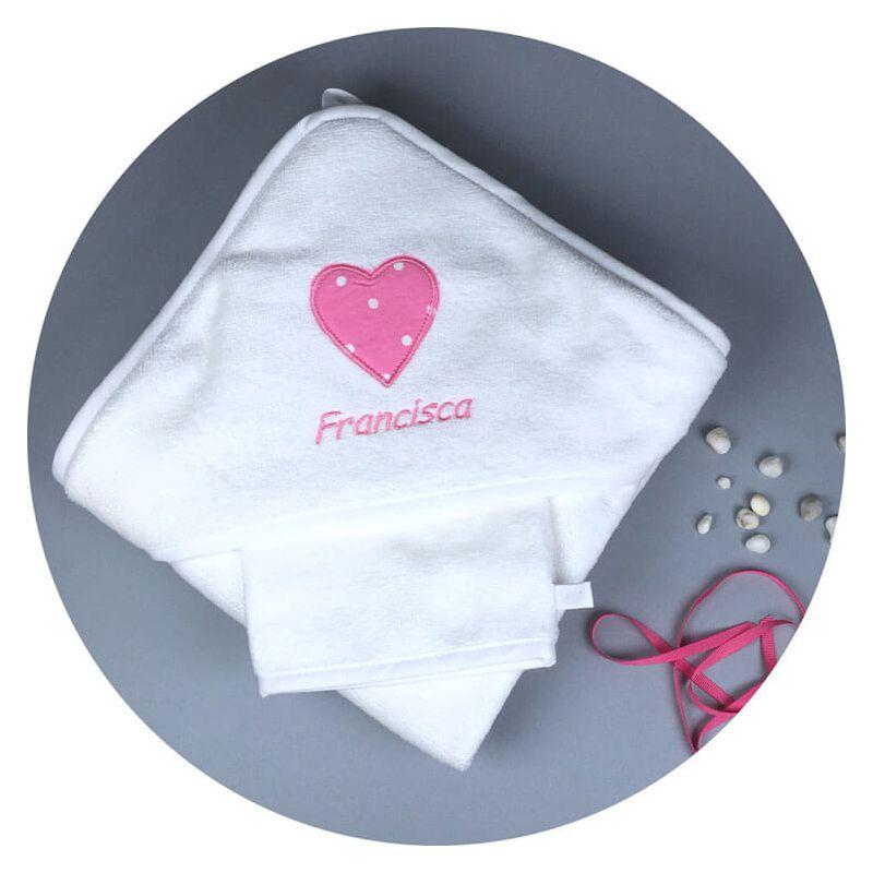 Couverture Personnalisé Bébé fille avec joli coeur