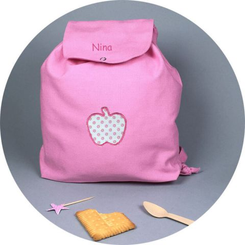 sac-a-dos-petite-fille-rose-pomme
