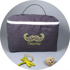 trousse-personnalisee-chocolat-moustache-vert-anis