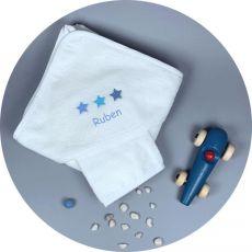 Cape de bain bébé garçon Etoiles Bleues