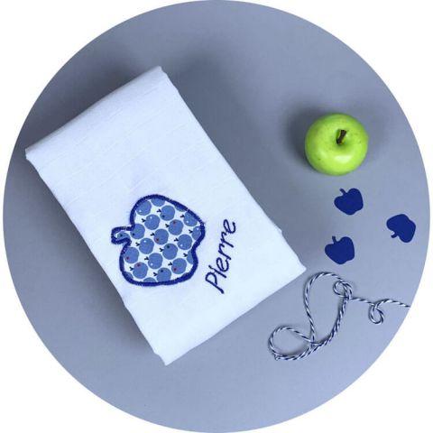 lange-personnalise-pomme-bleu