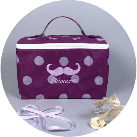 Trousse de toilette originale Betty Moustache
