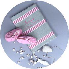 Protège carnet de santé bébé avec prénom Deauville