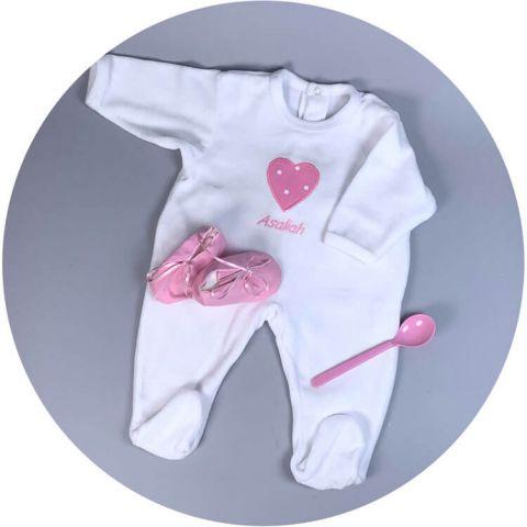pyjama-bebe-coeur-rose-pois