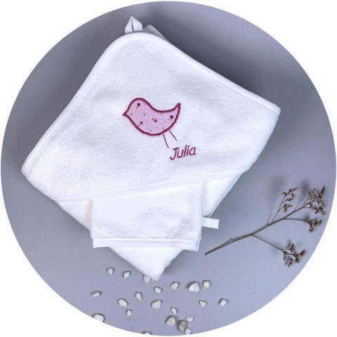 serviette-toilette-bebe-oiseau-prune