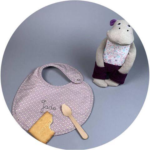 coffret-naissance-doudou-hipopotame-bavoir