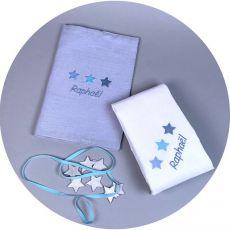 Coffret cadeau naissance original Etoiles Bleues