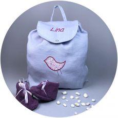 Sac-personnalise-gris-oiseau-violet