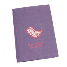 Protège carnet de santé prune Capucine