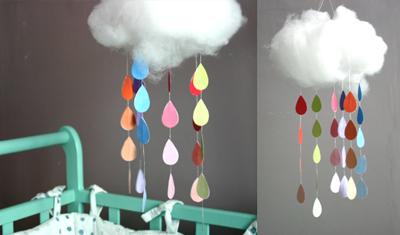 DIY: mobile enfant nuage à faire soi-même