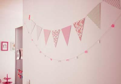 Décoration chambre enfant : la guirlande de fanions
