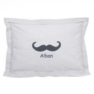 Taie d'oreiller enfant Moustache
