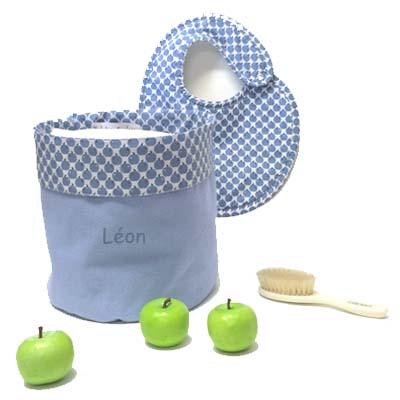Corbeille bébé Apple Pie, Corbeille de toilette, panier bébé