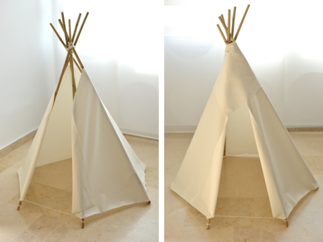diy tipi pour petits indiens chics baladeenroulotte. Black Bedroom Furniture Sets. Home Design Ideas