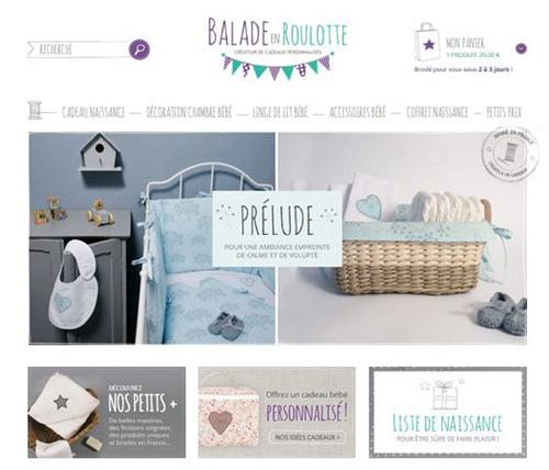 Nouvelle boutique en ligne www.baladeenroulotte.com