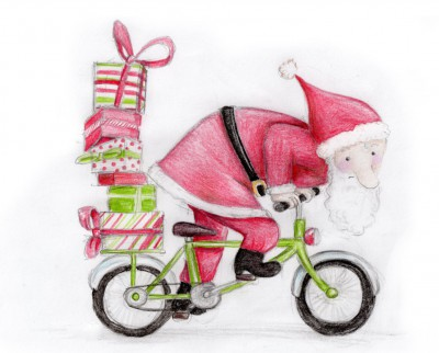 Le père Noël est prêt pour la distribution de ses cadeaux de Noël